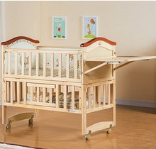baby cradle bed wood BB green multifunctional children bed