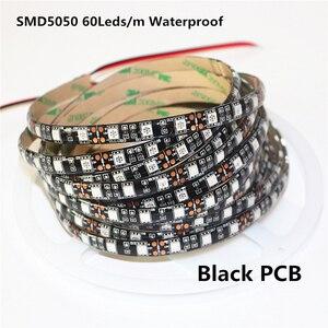 Ультрафиолетовая Светодиодная лента 12 в 5 м 395-405нм, черная Светодиодная лента, светильник 5050 3528 2835 SMD 60led/M 120led/m фиолетовая Диодная лента