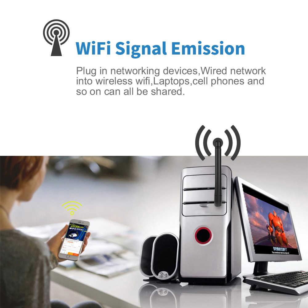 Suntrsi 600Mbps adaptador Wifi USB 5,8 GHz + 2,4 GHz receptor de Wifi USB tarjeta de red inalámbrica Wifi USB adaptador Wifi de antena de alta velocidad