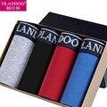 2017 PLANDOO Boxer Men 100% Cotton 4 Pieces Lots Boxer Briefs Antibacterial Sweat Sexy Boxer Shorts