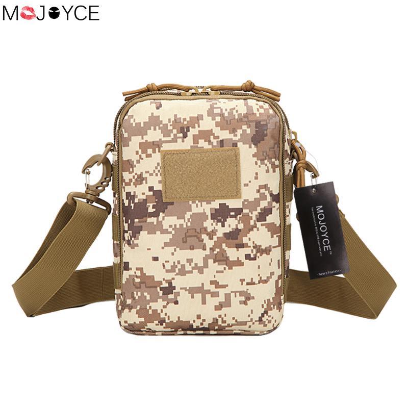 MOJOYCE Unisex Tactics Waterproof Bag Messenger Pack Outside School Small Handbags Military Camouflage Travel Bags