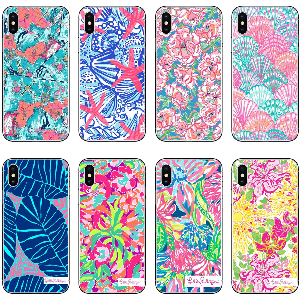 db57f349cd517 US $2.0 41% OFF|Aliexpress.com : Buy Lilly Pulitzer Summer flower Pink Map  Clear Soft Silicone TPU Phone Case Cover For iPhone 7 7Plus 6 6S 6Plus 5 5S  ...