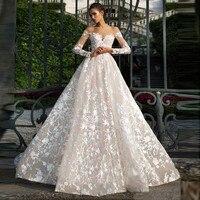 Vesido De Novia 2019 свадебное платье с длинным рукавом Тюль аппликация невесты платье Винтаж суд Поезд Robe De свадебные платья