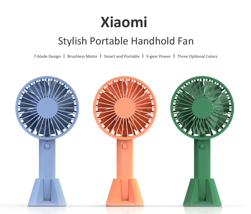 Original Xiaomi Mijia VH fan Portable Handheld With Rechargeable Built-in Battery USB Port Design Handy Mini Fan For Smart Home mini usb fan portable handhold fan with rechargeable built in battery usb port design handy mini fan for smart home
