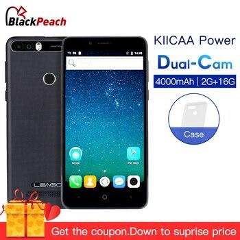 LEAGOO KIICAA POWER 5.0 Inch Mobile Phone Android 7.0 MT6580A Quad Core 2GB 16GB Dual Camera 8MP 4000mAh Fingerprint Smartphone