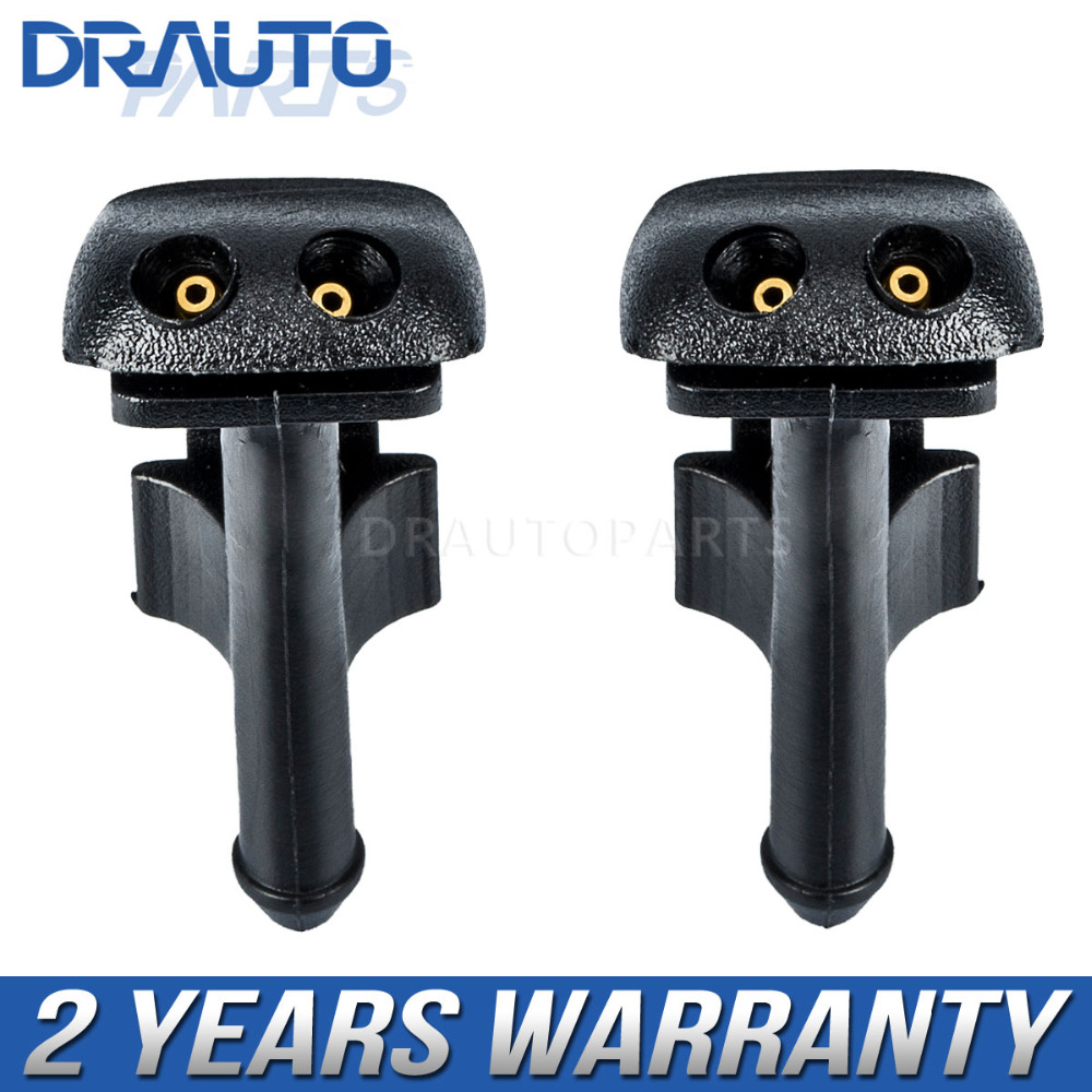 Pair Windshield Wiper Washer Spray Nozzle For BMW 318i