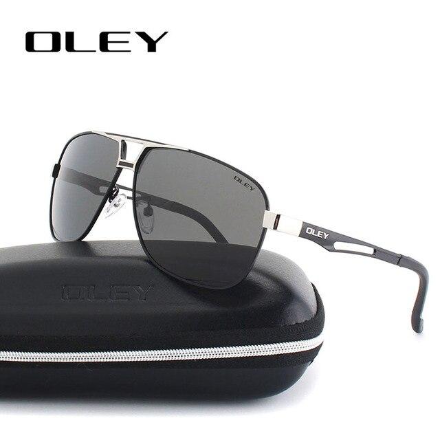 d67f6a0f3565d OLEY Clássico Polarizada Óculos De Sol para homens de Alumínio e magnésio  quadro lentes Polaroid Condução