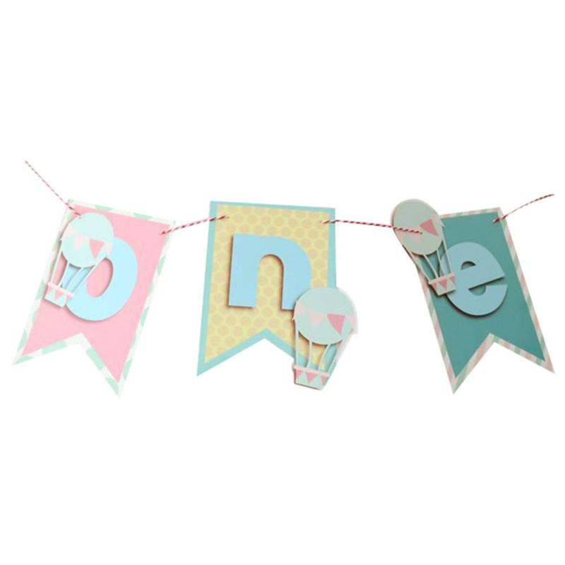 1st Birthday Flags Chair Banner Hanging Bunting One Year Old New Birthday Hanging Buntin ...