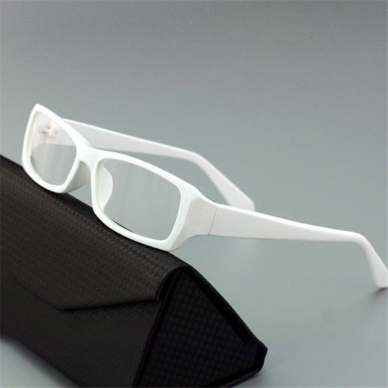 Cubojue White Small Glasses Frame Men Women Narrow Lens Eyeglasses Man Woman Black Nerd Points Prescription Spectacles Eyewear