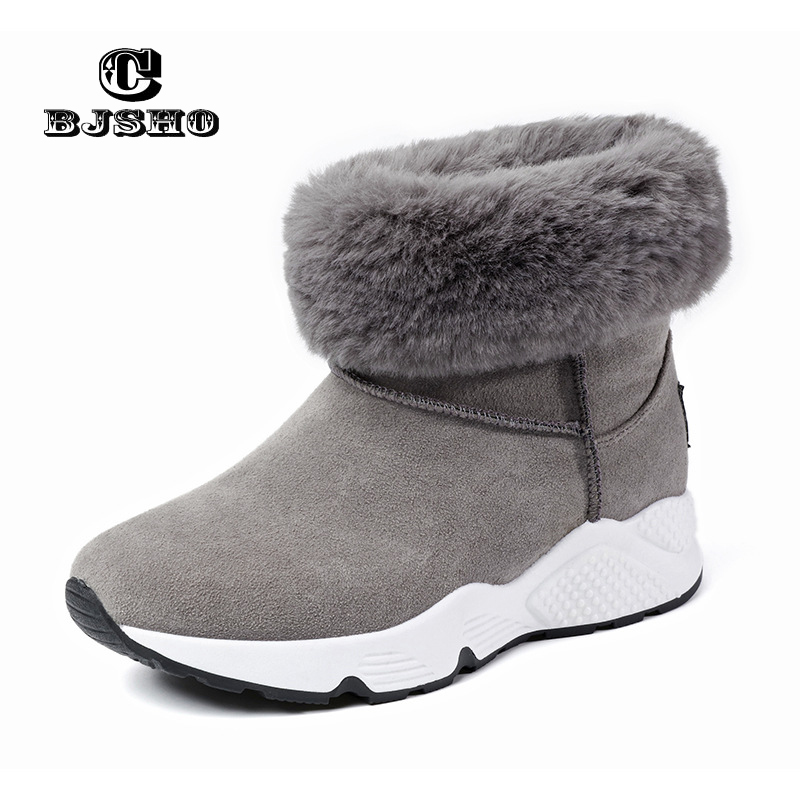 CBJSHO New Fur Snow Boots Winter Warm Female Cotton Shoes Women Autumn 2017 Australia Plush Fashion Short Ankle Boot Boats Mujer