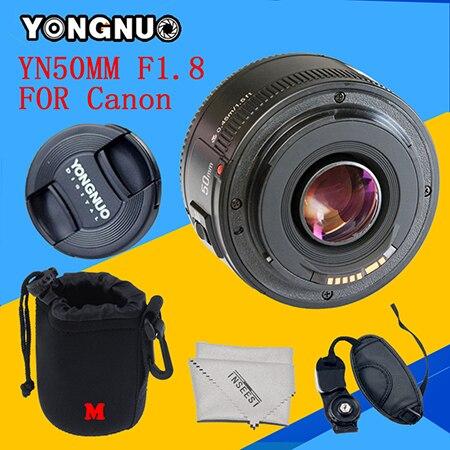 YONGNUO YN50mm f1.8 YN EF 50mm f/1.8 AF Lens YN50 Aperture Auto Focus for Canon 6d 60d 5d mark iii 550d 1100d EF Mount Camera объектив для фотокамеры other yongnuo 50 ef 50mm f 1 8 af mf canon yn ef 50mm f1 8
