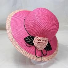 все цены на BINGYUANHAOXUAN Hot Korean Straw Sun Hats For Women Beach Cap Anti-UV Summer Cap For Flower Ladies Straw Hat with Wide Brim Hat онлайн