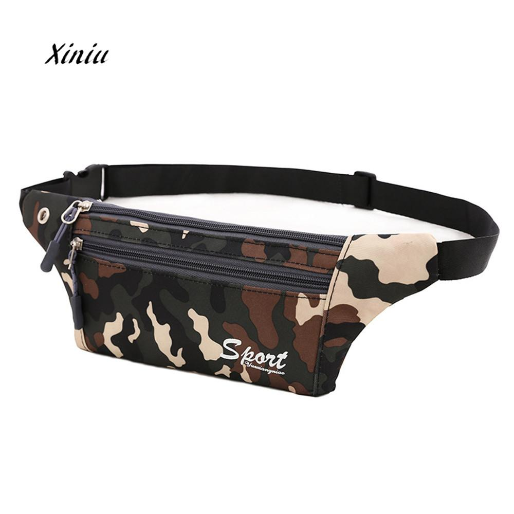 2018 New Fashion Waist Pack Bag Unisex Camouflage Canvas Crossbody Shoulder Bag Chest Bag Women Girl Phone Pouch