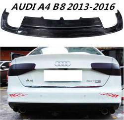Z włókna węglowego tylny spojler zderzaka Spoiler pokrywa dyfuzora dla AUDI A4 A4L S4 B8 S-LINE 2013 2014 2015 2016 przez EMS