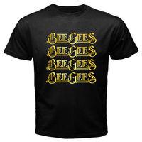 Gildan New BEE GEES Logo Music Group Legend Robin Gibb Men S Black T Shirt Size