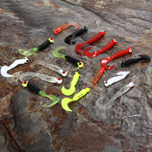 17Pcs/Set Soft Fishing Lures Lead Jig Head Hook Grub Worm Soft Silicone Baits Shads Pesca Artificial Bait Lure Fishing Tackle