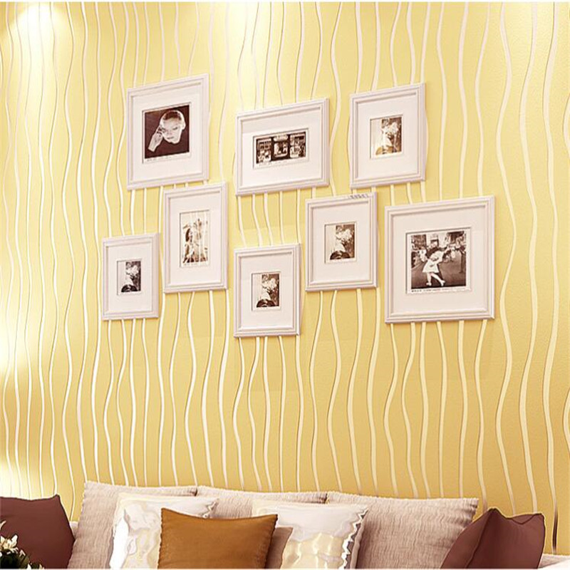 Simple Modern Striped Wall Paper 3D Stereo Wallpaper Study Bedroom Living Room TV Background Wallpaper Roll Home Decor