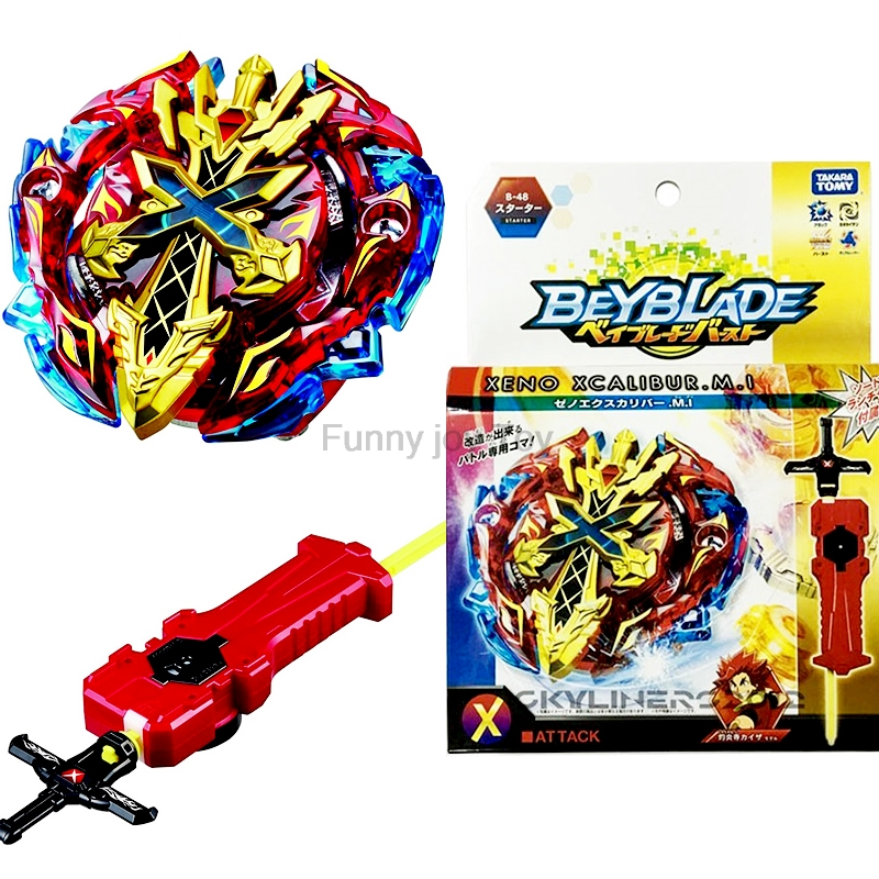 B 48 original Launchers Beyblade Toy for sale Burst Starter B-48 Xeno Xcalibur M.I with Stater set High Performance Battling Top ヒステリック ミニ 高 画質