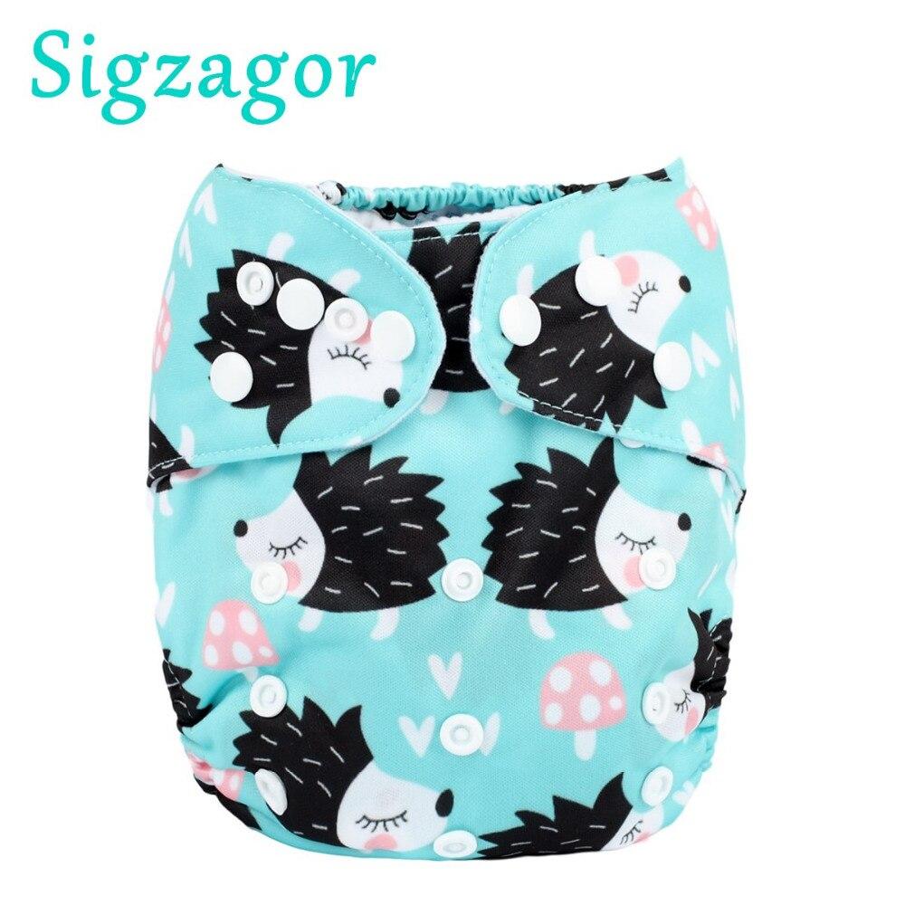 Детские подгузники [Sigzagor], многоразовые, моющиеся, регулируемые, 3-15 кг, 8-36 фунтов