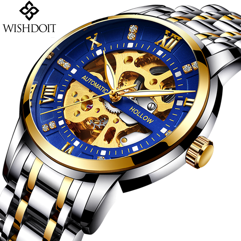 NEW Mens Watches Top Brand Luxury Men's Automatic Mechanical Watch Men Fashion Business Waterproof Watch Montre Homme Gift Box