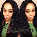 Box Twist Braids Wig Synthetic Black Hair Heat Resistant Braids With Baby Hair Micro Braids Synthetic hair For African American