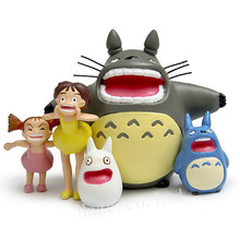 5pcs/Lot Anime My Neighbor Totoro Resin Figure Figurine Statue Toy