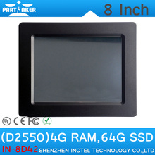 4G RAM 64G SSD OEM Intel Atom D2550 8″ All In One Industrial PC Touch Screen Embedded Monitor