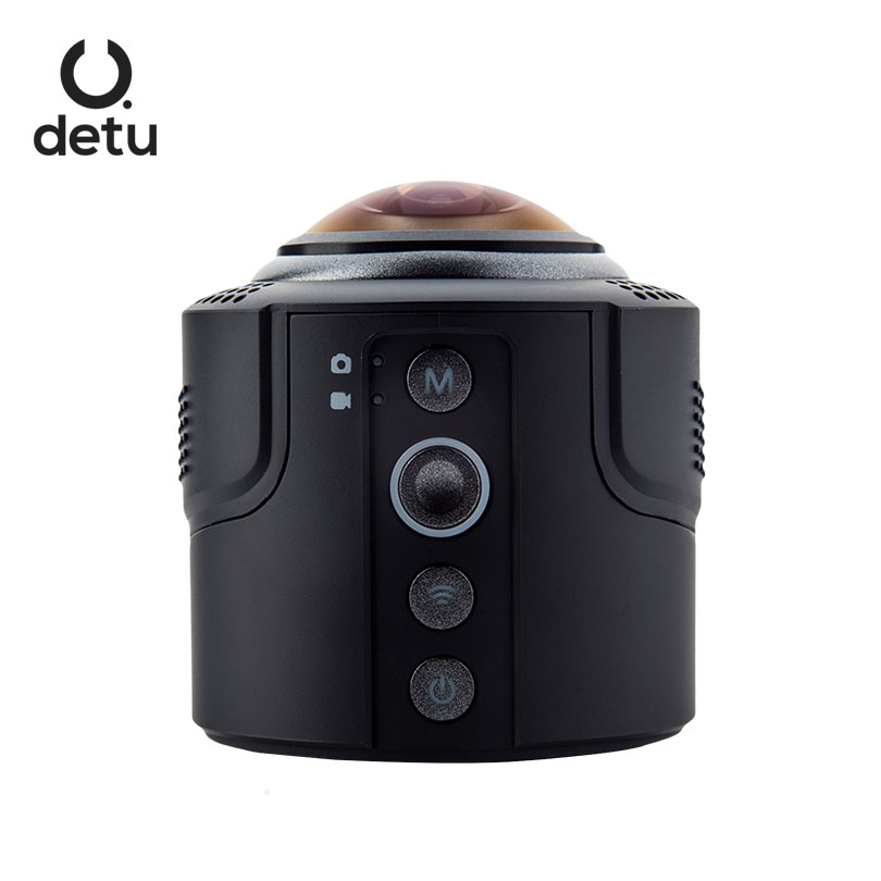 DETU Sphere S 360 Degree Video Camera 4K HD 360 VR Fisheye Lens Panoram Camera Sports Action Video Camera for Android & iOS цена