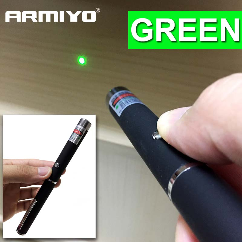 Armiyo 5mW 532nm Tactical Green Laser Pen Powerful Pointer Bore Sighter Presenter Remote Lazer Device Sight Hunting Laser