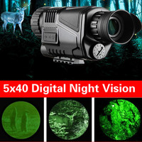 NEW 5x40 Infrared Night Vision Device Telescope Military Tactical Monocular Power Weapon HD Digital Vision Monocular