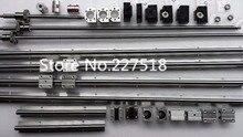 6 компл. линейный рельс SBR16 L300/900/1100 мм + SFU1605-300/900/1100 мм/1100 мм швп + 4 BK12/BF12 + 4 DSG16H гайка + 4 Муфта для чпу