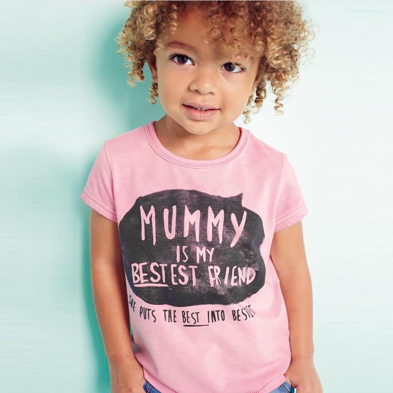 Little maven 2017 new summer baby girls funny t shirt ...