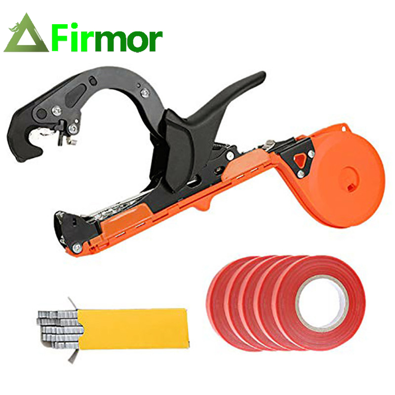 FIRMOR Garden Plant Tape Tool Tapener Branch Tying Machine Tapetool Strapping Vegetable Grape Stem Gun Bind Machine