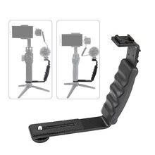 Рукоятка крепление L типа Кронштейн W/Холодный башмак 1/4 адаптер микрофонная подставка для Zhiyun Smooth Q2 4 DJI OSMO Mobile 3 Gimbal стабилизатор