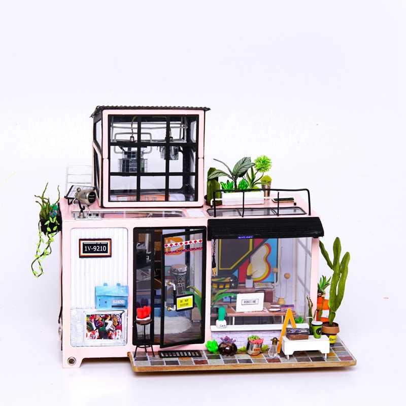 Robotime Новый DIY Кевин студия с мебели дети взрослые Деревянные маленькие модель кукольного домика строительные наборы кукольный домик DG13
