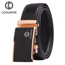 COOLERFIRE 2017 top quality cow genuine fashion leather men belts for automatic buckle strap cinto masculino ZD060
