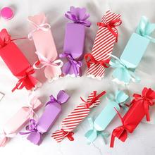 20pcs/lot Candy Shape Packaging Carton with Ribbon Vase Fishtail Box Wedding Birthday Party Gifts for Guests Favours
