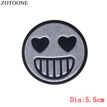 ZOTOONE 1PCS Love parches Embroidered Iron on PVC Patches for Clothing DIY Stripes Rainbow Clothes Stickers Custom Fruit Badges