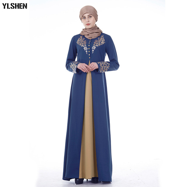 Plus Size Muslim Abaya Dubai Women Maxi Dresses Ramadan Moslim Prayer Robe Hijab Dress Kaftan Islamic Turkey Islamic Clothing 3