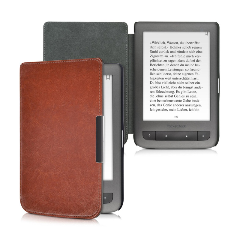 Leather PU Protective Protect Case Skin Cover for PocketBook 624/626/640 Tablet Accessories pocketbook 640 white