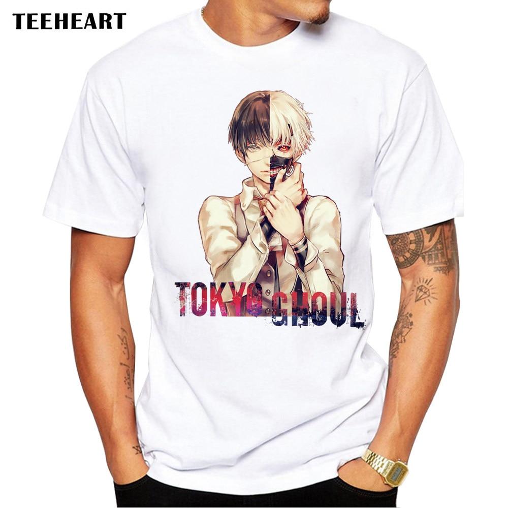 2017 Summer Tokyo Ghoul Design T Shirt Men's Japanese Anime Printed Tops Hipster Tees la599