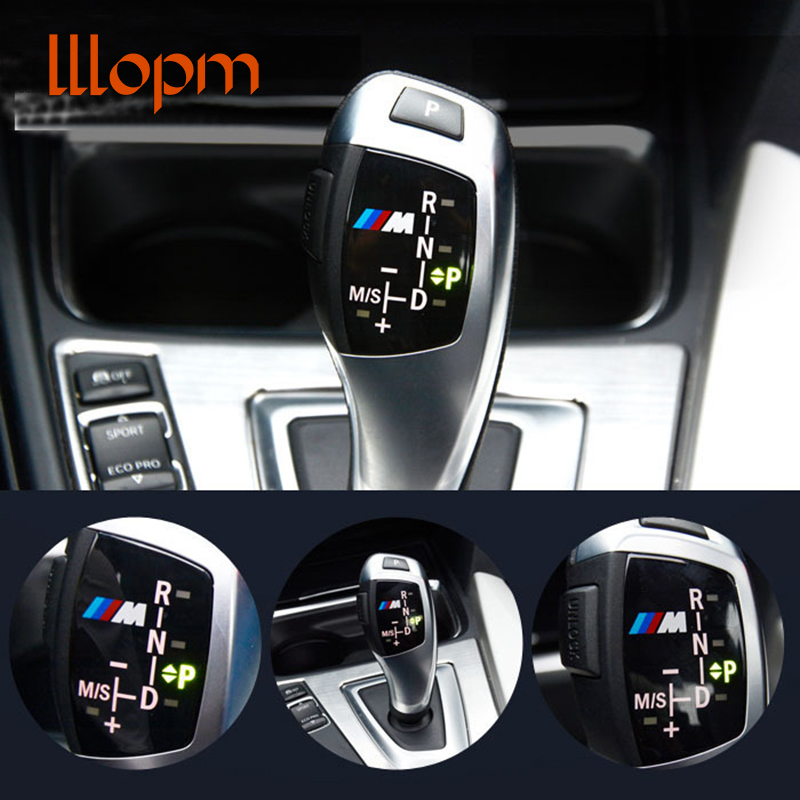 Car styling 3D ABS M Motorsport Gear Knob Trim Sticker Cover For BMW X1 X3 X5 X6 M3 M5 F30 F35 F18 F20 F21 GT 1 3 5 6 7 Series motorsport manager [pc jewel]