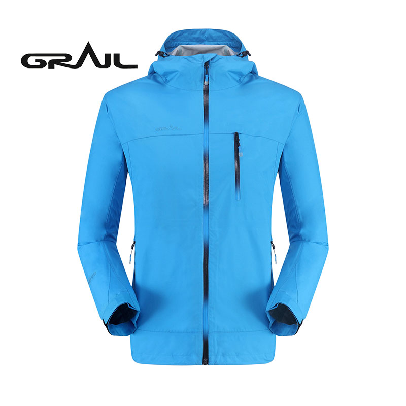 GRAIL Waterproof Jacket Men Outdoor Sport Suit Hoodies Windbreaker Turbo Skin Jacket Of Male For Camping Running 0002A