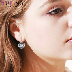 Xuping Fashion Top Sale Crystals from Swarovski Colorful Earrings With Color Plated Charm for Women Gift XE2189