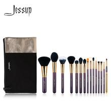 Jessup Brand 15pcs Beauty Makeup Brushes Brush Set Tool Purp