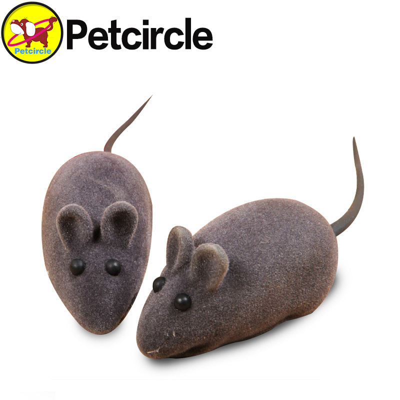 petcircle free shipping cat toy Hot Sale Little Mouse Realistic Sound Toys For Cat for dog for pet Color Random