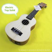 Top Solid Soprano Acoustic Electric Ukulele 21 Inch Mini Guitar 4 Strings Mahogany Picea Asperata Ukelele Guitarra Handcraft Uke