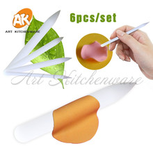 6 sztuk/zestaw Food Grade ciasto dekorowanie Pen, róża dekoracyjne narzędzie, kremówka Cupcake herbatniki DIY Asseccories, ciasto kwiat narzędzia MT-06
