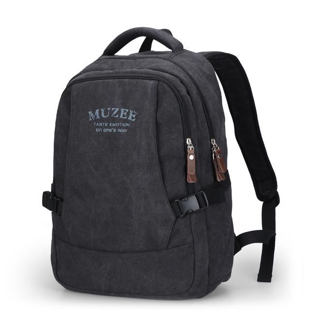 Muzee mochila de lona vintage mochila escolar mochila bolsa de ordenador portátil de la lona de los hombres mochila me0568