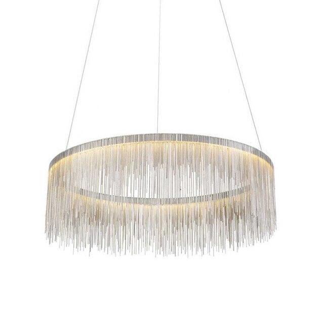 Qualität Luxus Modern Ringe 80 CM Pendelleuchten Für Wohnzimmer Mit Gold  Kette Für Restaurant Dekoration Hängelampe